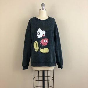 Disney Mickey Mouse Acid Wash Sweater